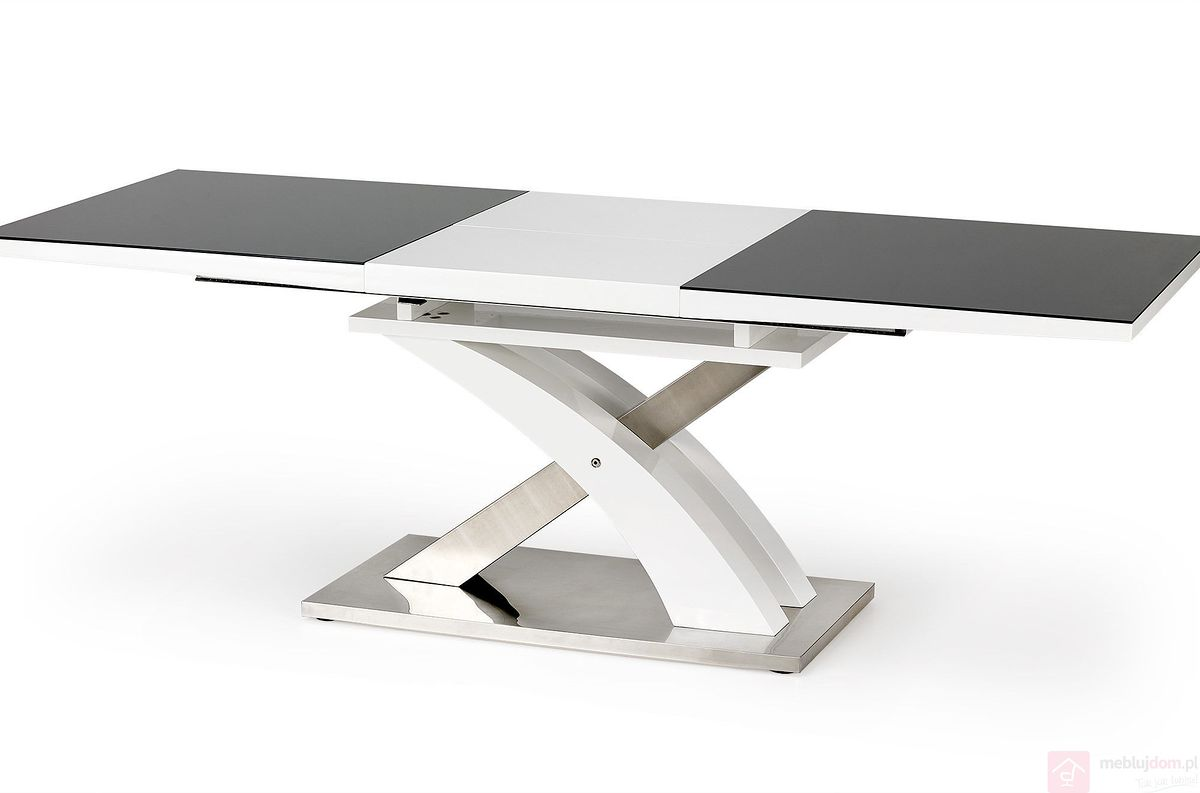 Stół SANDOR 2 Halmar czarny rozłożony