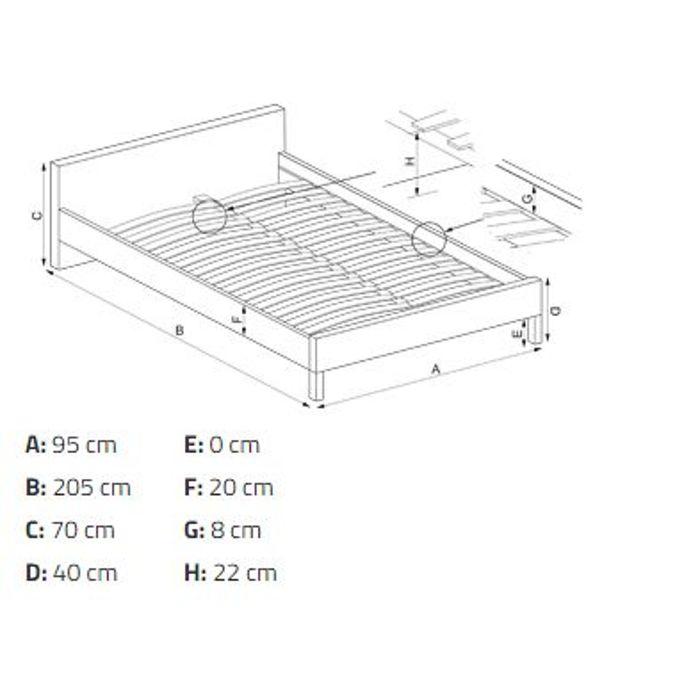 Łóżko LIMA Halmar wymiary