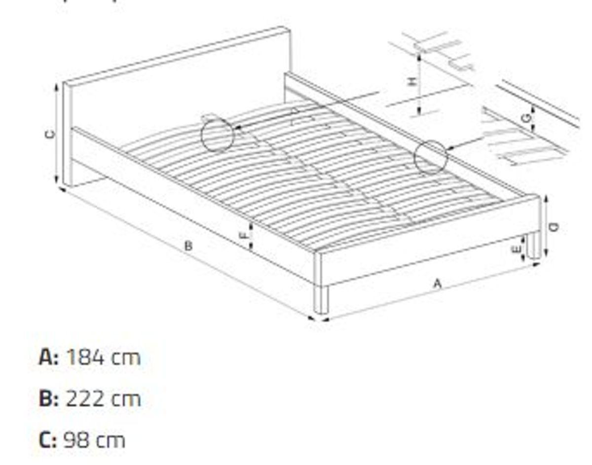Łóżko SAMANTA P Halmar Czarno-biały, wymiary