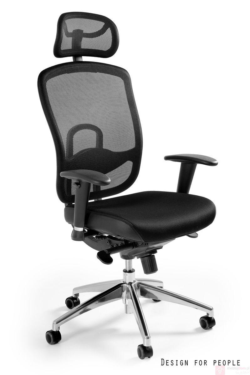 Fotel obrotowy VIP Unique siatka czarny