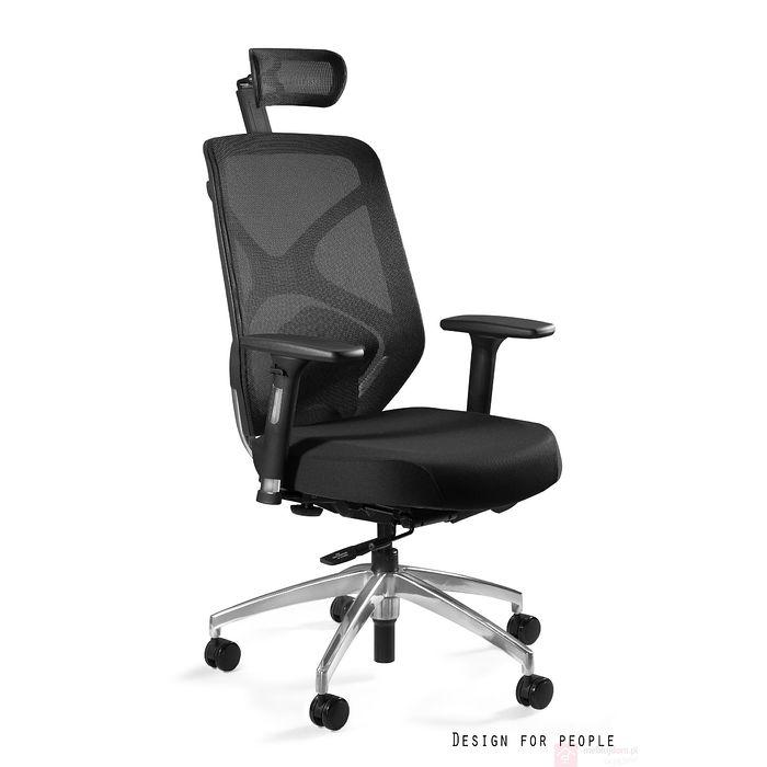 Fotel ergonomiczny HERO Unique Tkanina siedzisko czarny
