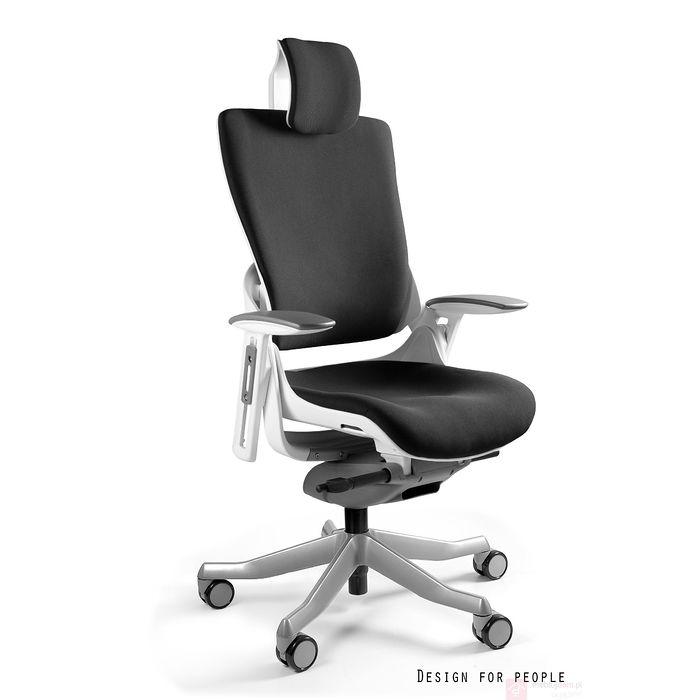 Fotel obrotowy WAU 2 Tkanina czarno-biały