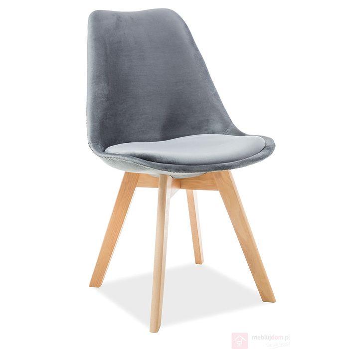 Krzesło DIOR Velvet Signal szary