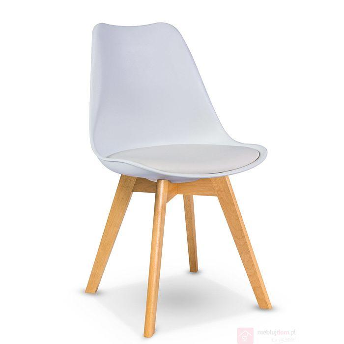 Krzesło KRIS Signal bukowe nóżki Biały
