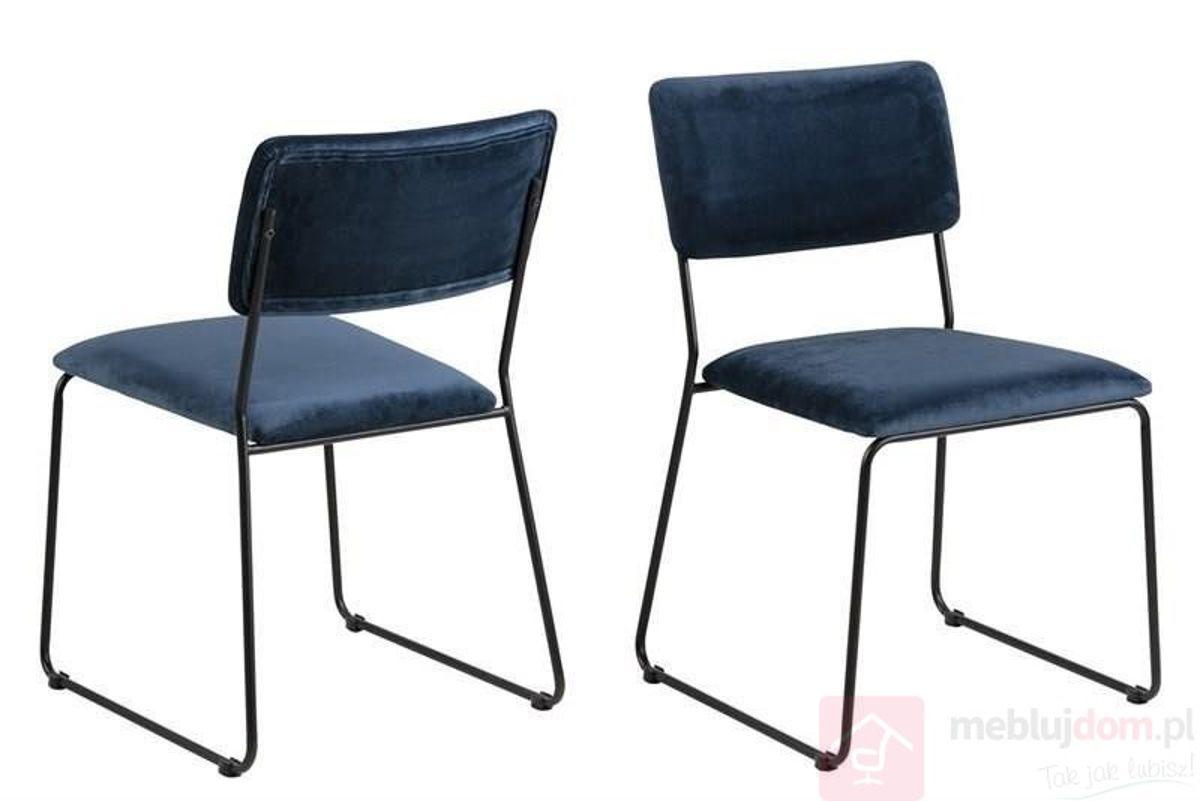 Krzesło CORNELIA VIC niebieski