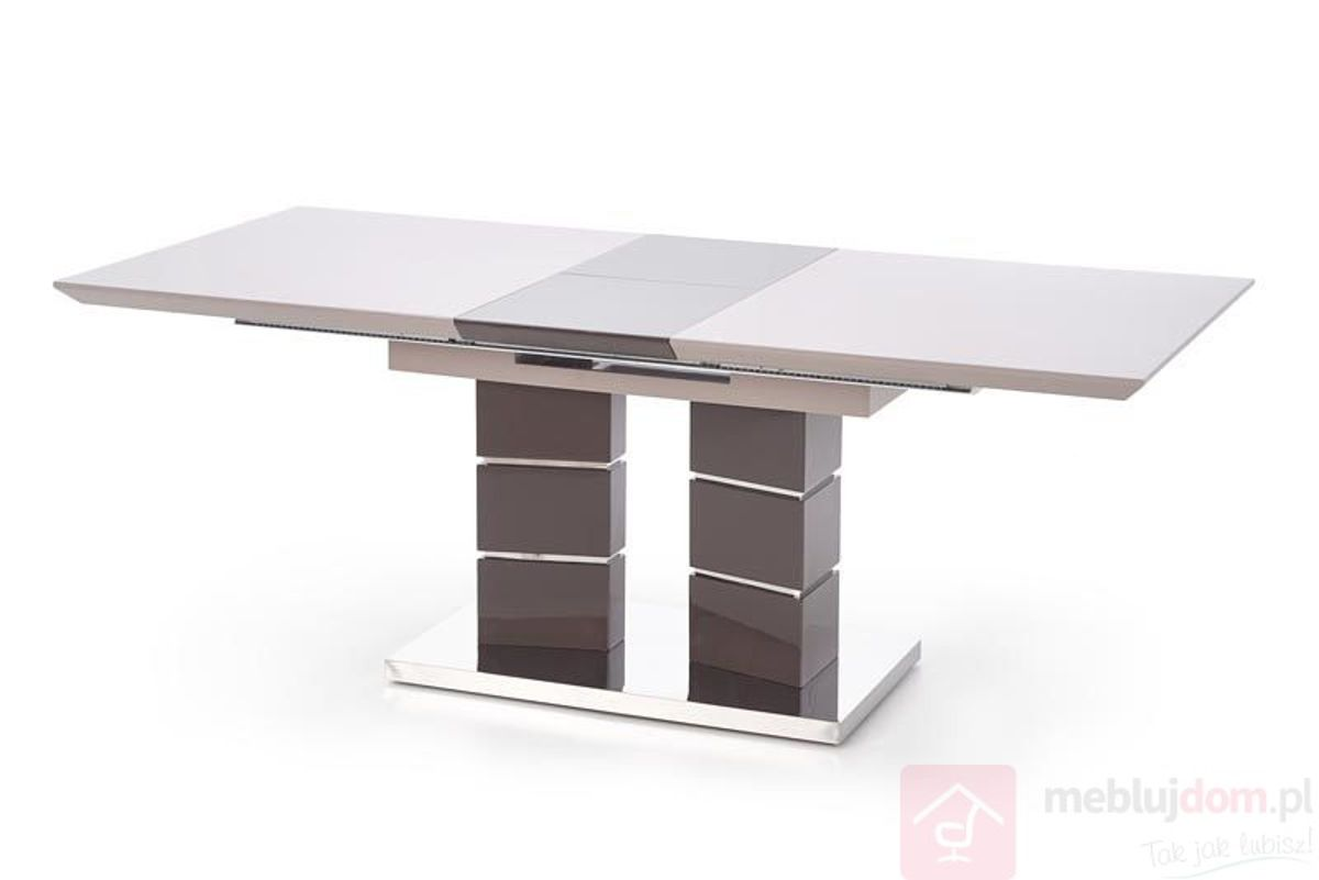 Stół LORD Halmar 90x160-200 cm, Jasny popiel + ciemny popiel detal