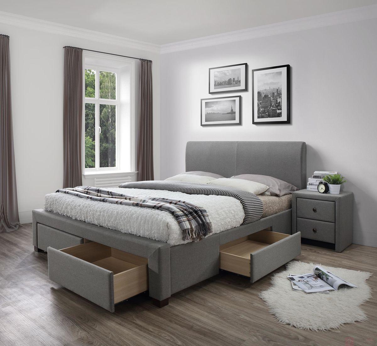 Łóżko MODENA Halmar szara