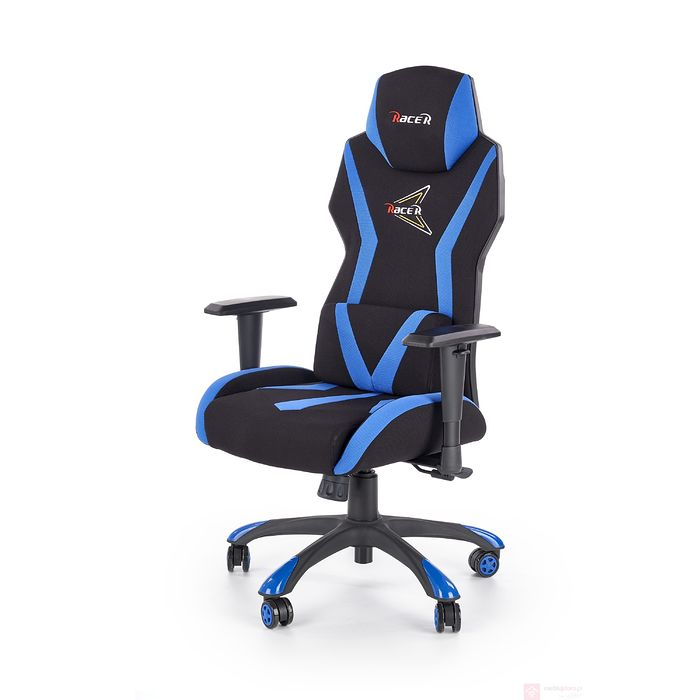 Fotel gamingowy niebieski STIG Halmar