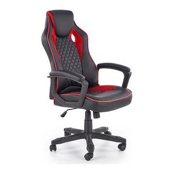 Fotel obrotowy BAFFIN Halmar czarno-czerwony