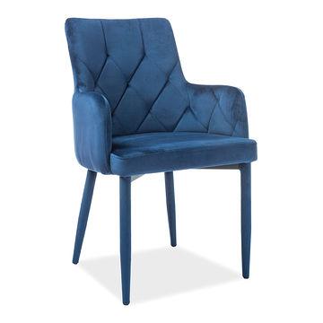 Krzesło RICARDO Velvet Signal granatowy