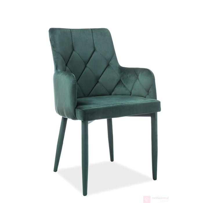 Krzesło RICARDO Velvet Signal zielony