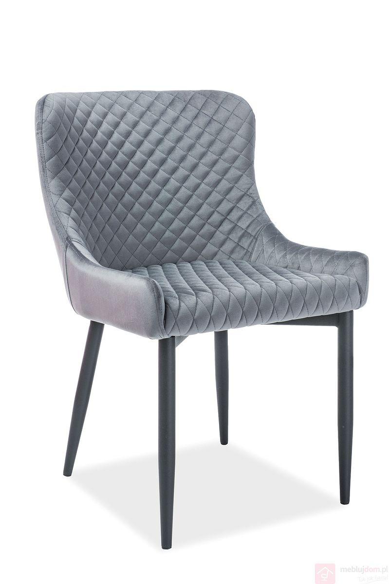 Krzesło COLIN B VELVET Signal szary
