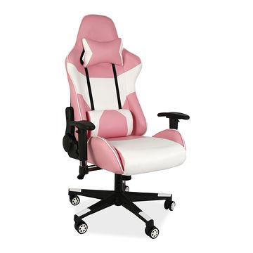 Różowy Fotel gamingowy LOTUS Signal dla dziewczyny