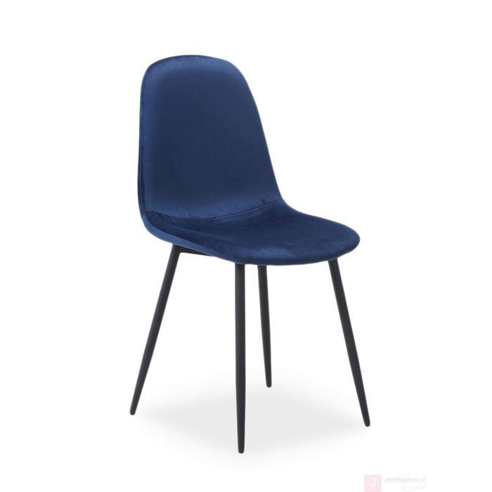 Krzesło FOX Velvet Signal granatowy