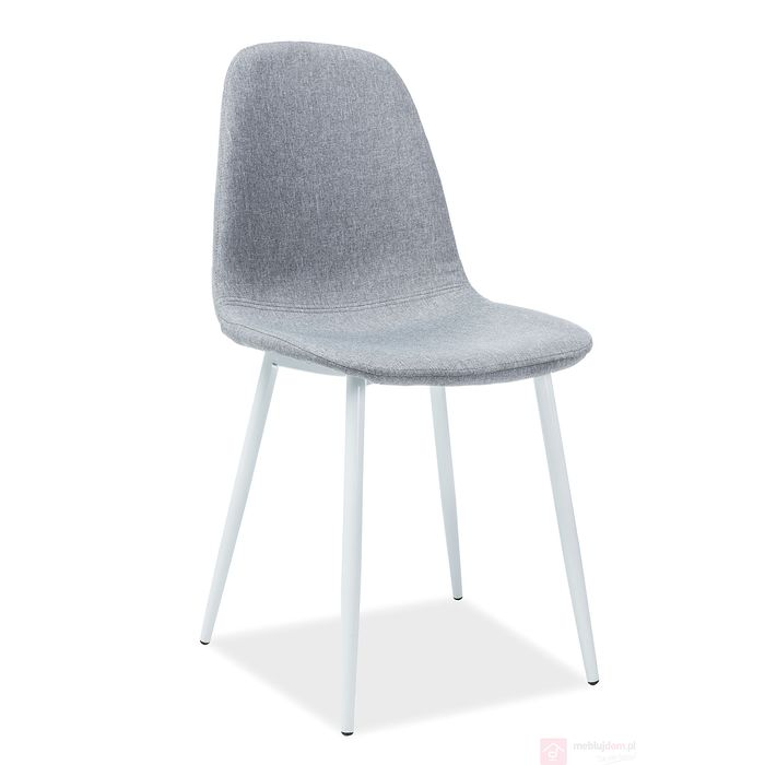 Krzesło FOX Signal szary białe nogi