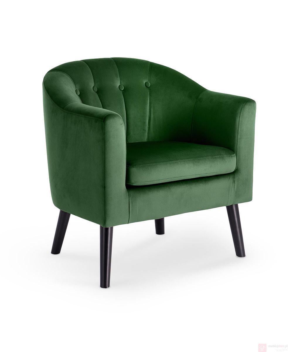 Fotel MARSHAL Halmar ciemno zielony