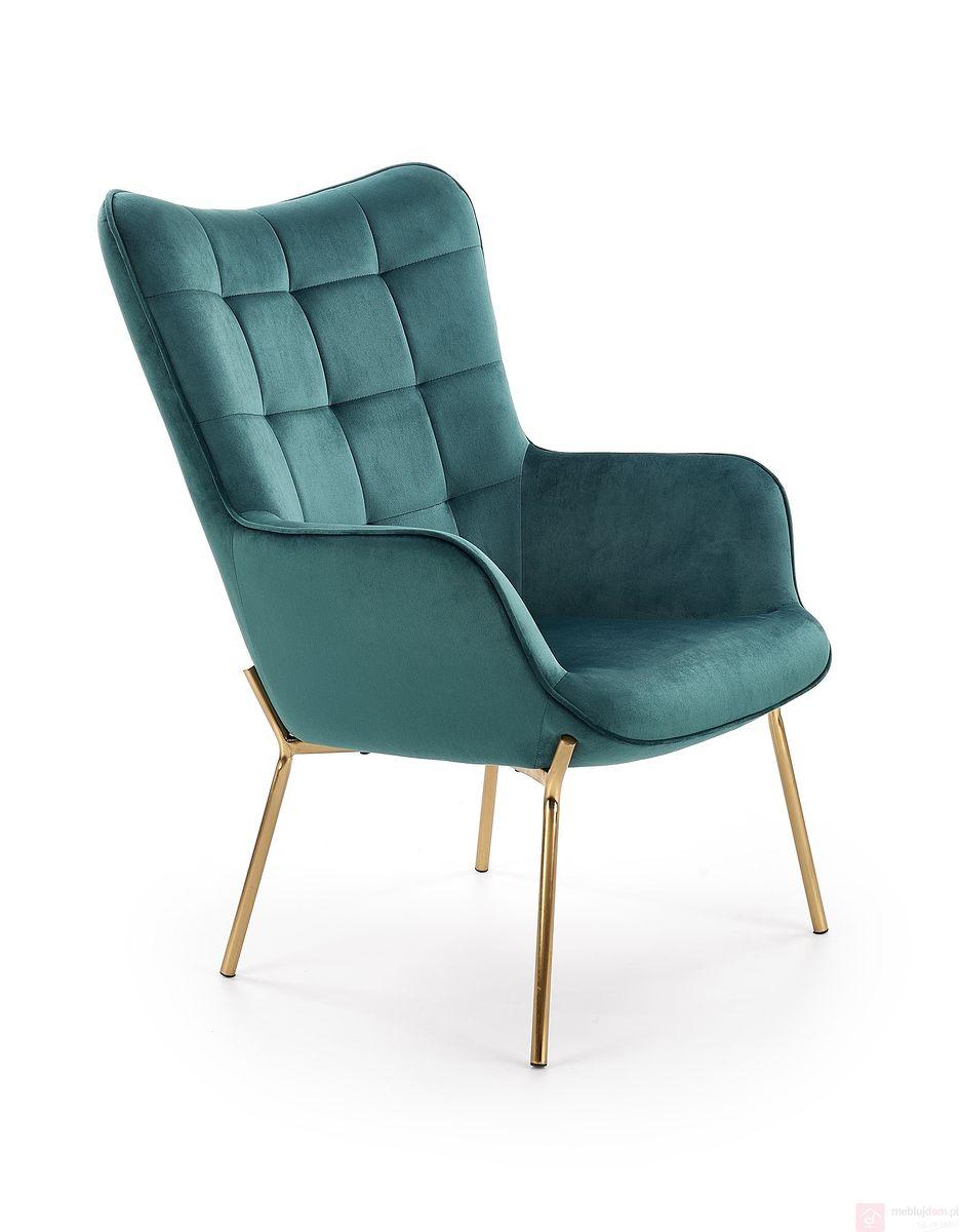 Fotel CASTEL 2 Halmar ciemno zielony