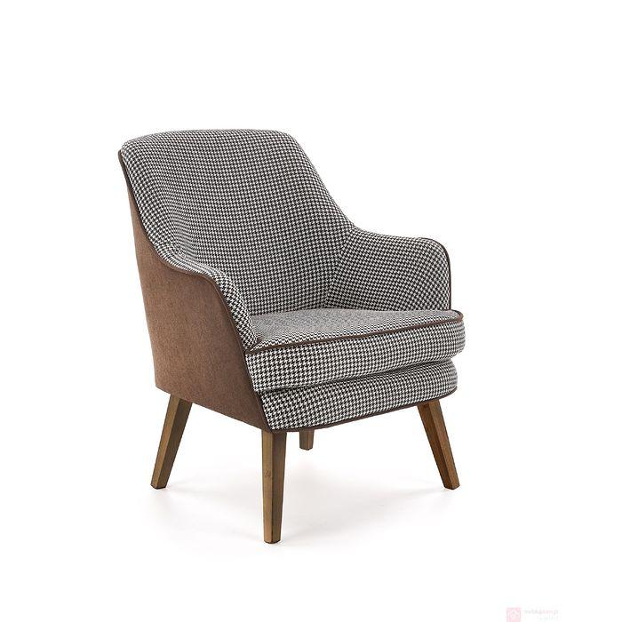 Fotel TELAVIV Halmar brązowo-czarno-biały