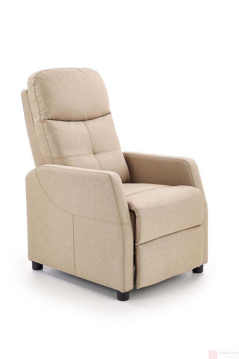 Fotel relaksacyjny FELIPE Halmar beżowy