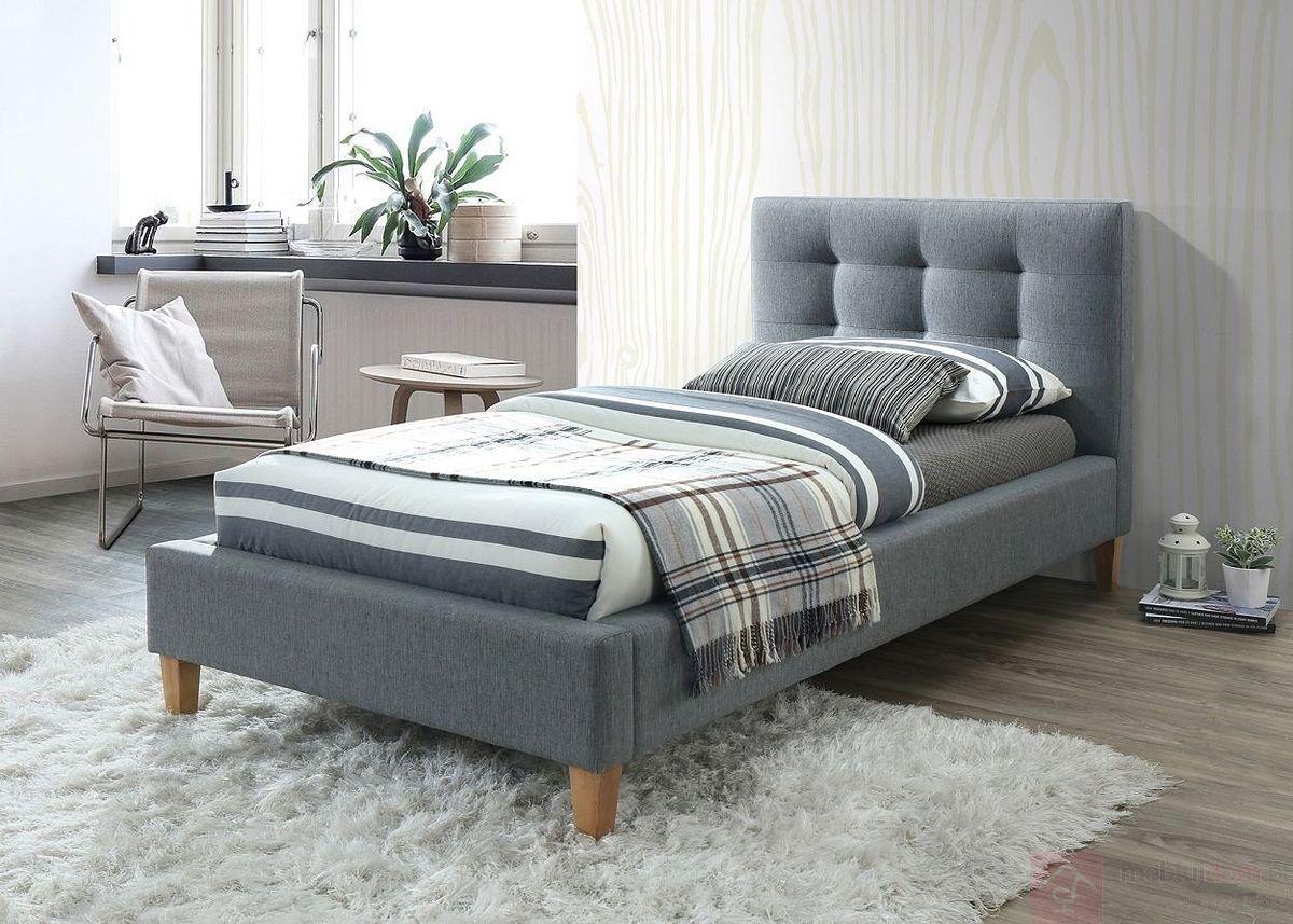 Łóżko TEXAS Signal pojedyncze szare