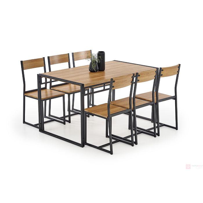 Zestaw BOLIVAR stół + 6 krzeseł