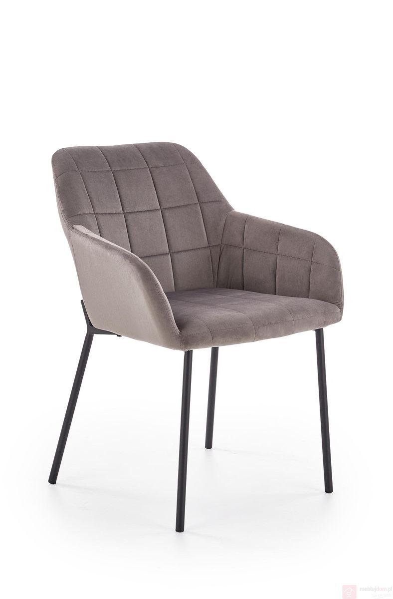 Krzesło K-305 Halmar szary