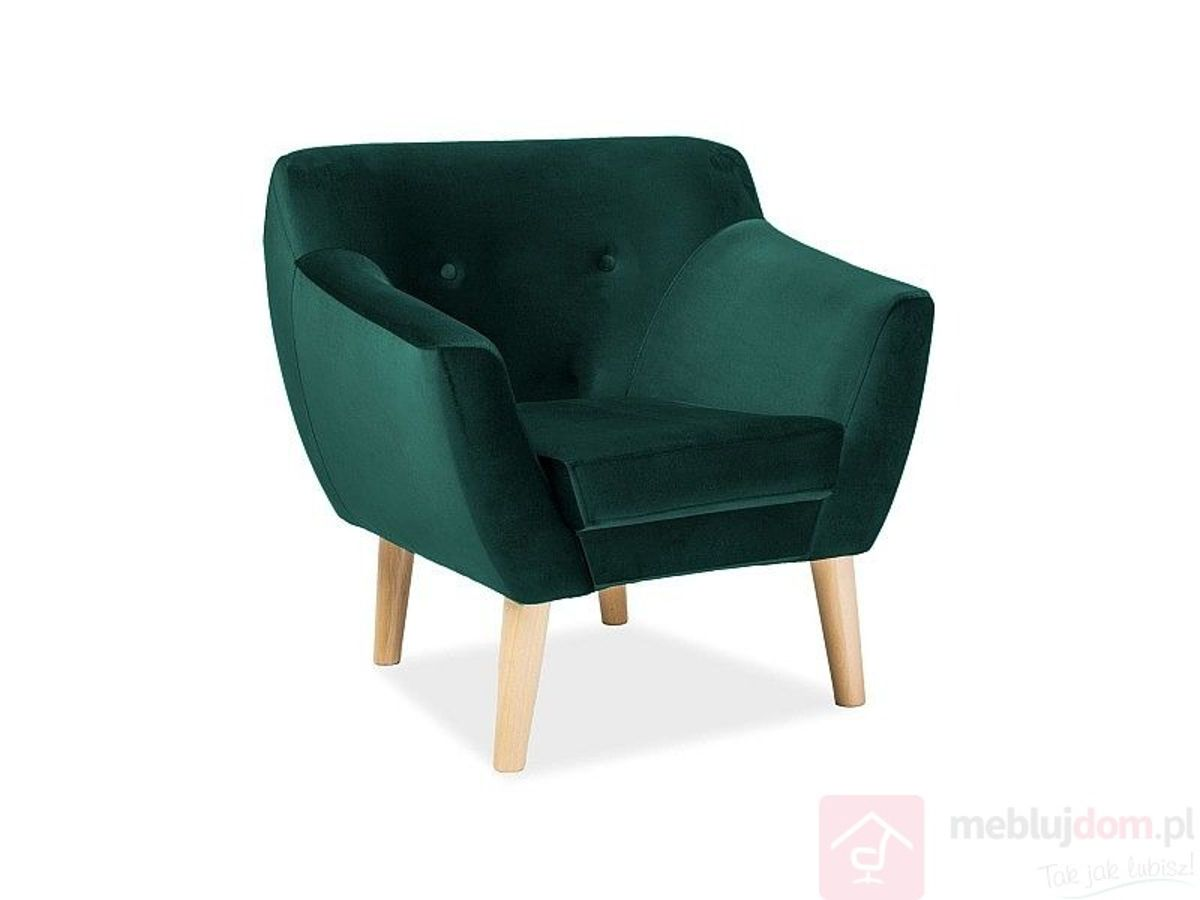 Fotel BERGEN I Signal VELVET zielony