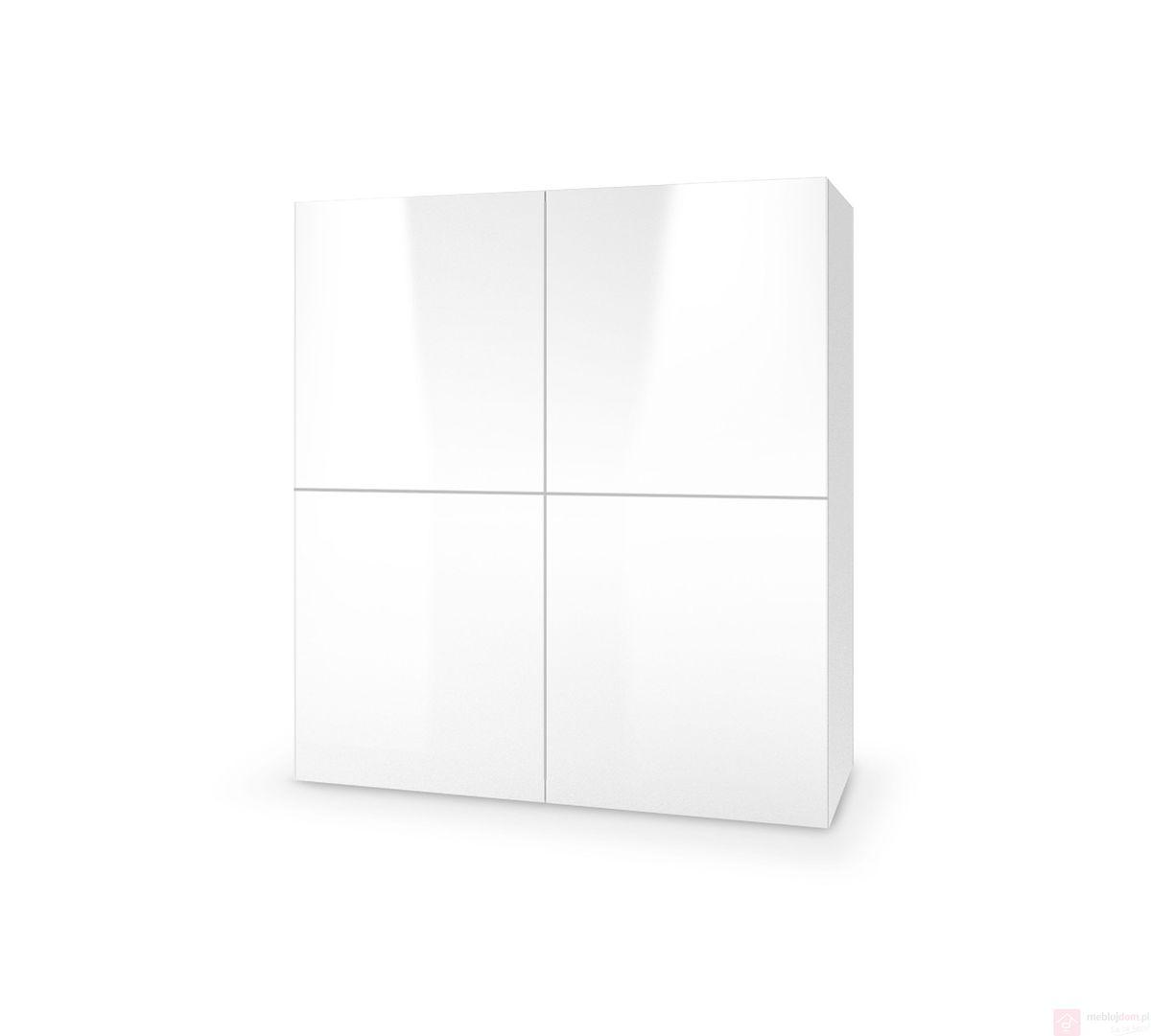 Komoda LIVO KM-100 Halmar biały połysk + biały mat