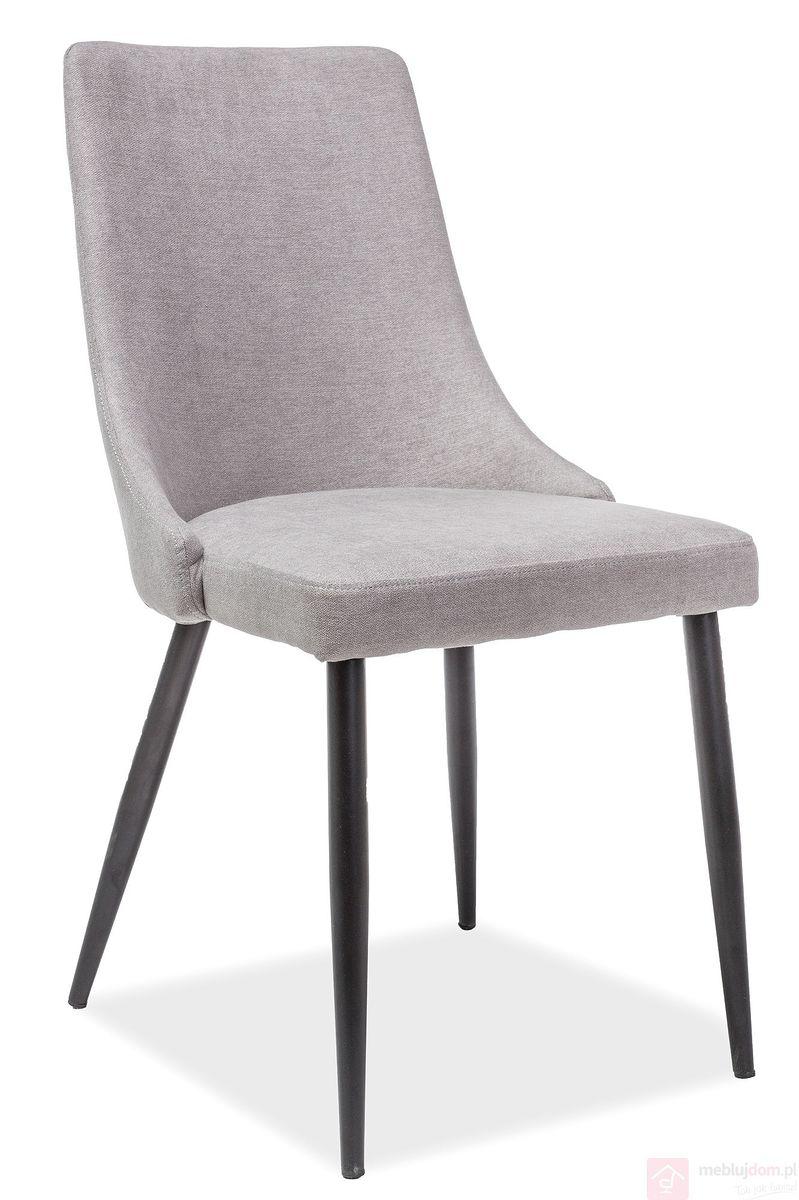 Krzesło NOBEL Czarne Nogi Signal szary