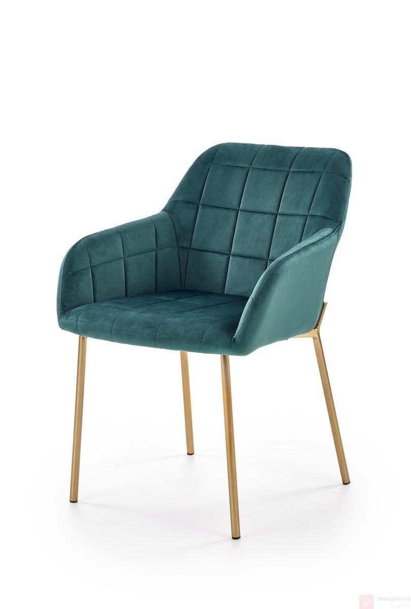 Krzesło K-306 Halmar ciemno zielony