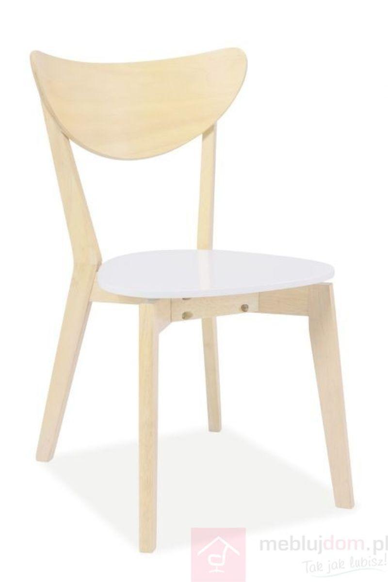 Krzesło CD-19 Signal Dąb bielony + biały