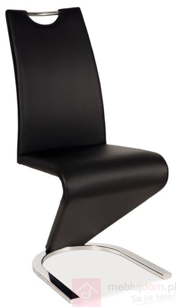 Krzesło H-090 chrom Signal Czarny