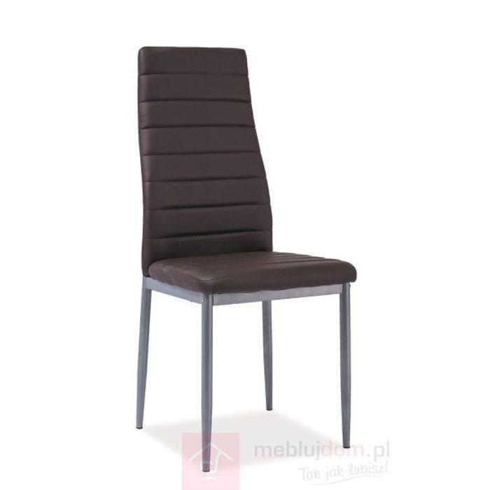 Krzesło H-261 BIS ALU Signal Brązowy