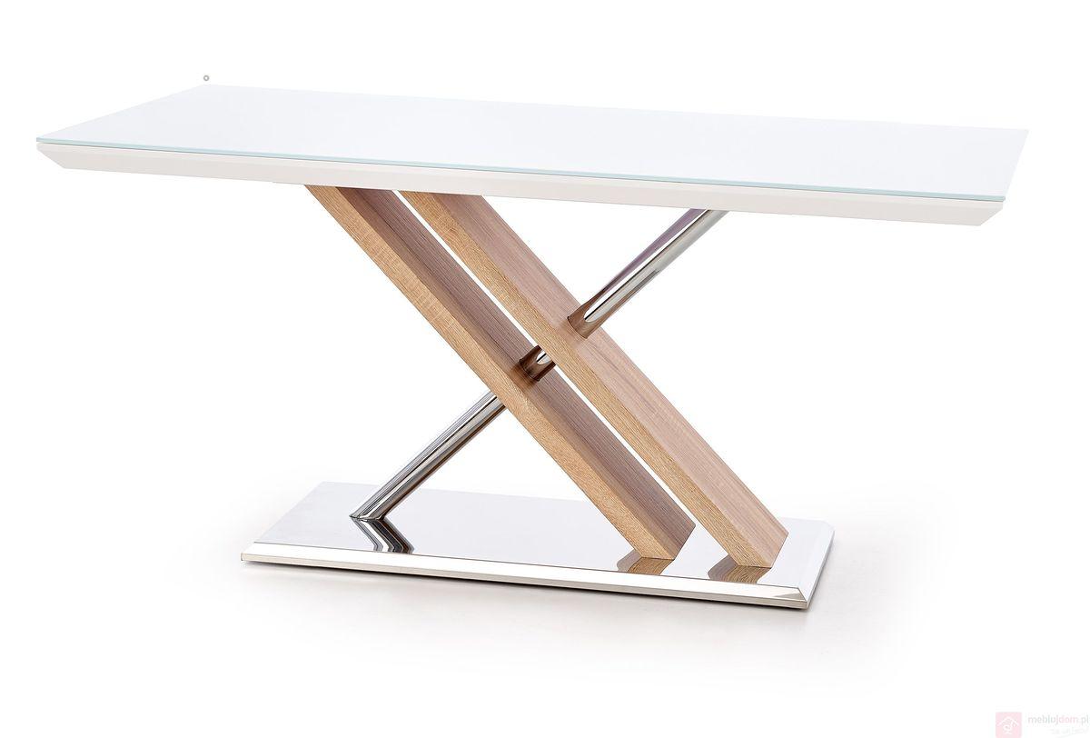 Stół MDF ze szklanym blatem NEXUS Halmar