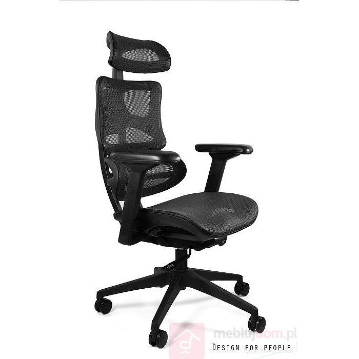 Fotel ergonomiczny ERGOTECH Unique nylonowa podstawa