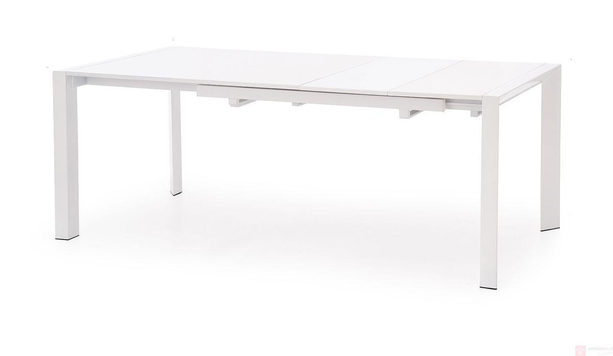 Stół STANFORD Halmar Biały połysk rozłożony