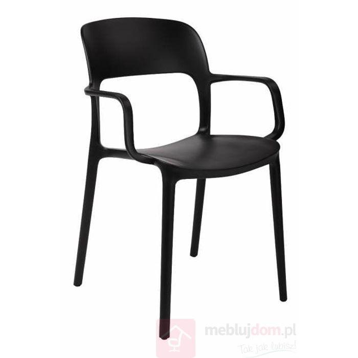 Krzesło FLEXI z podłokietnikami czarne
