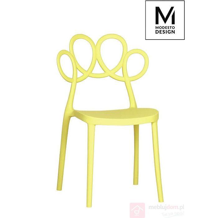 Krzesło LOOPY żółte
