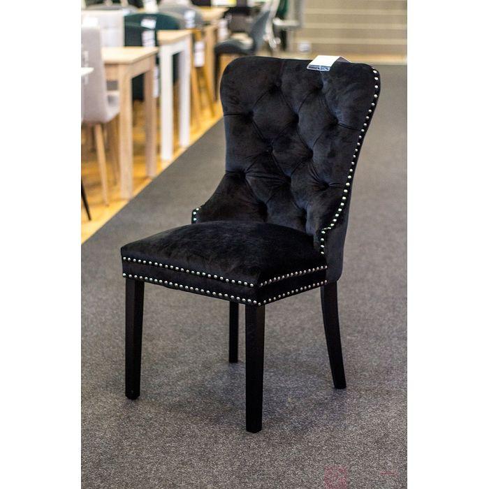 Krzesło AUGUST VELVET Signal czarny