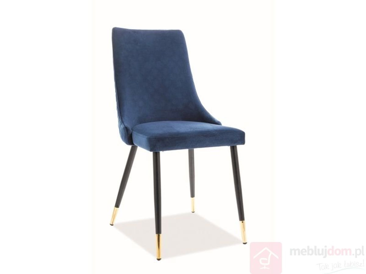 Krzesło PIANO VELVET Signal Bluvel 86 granatowy