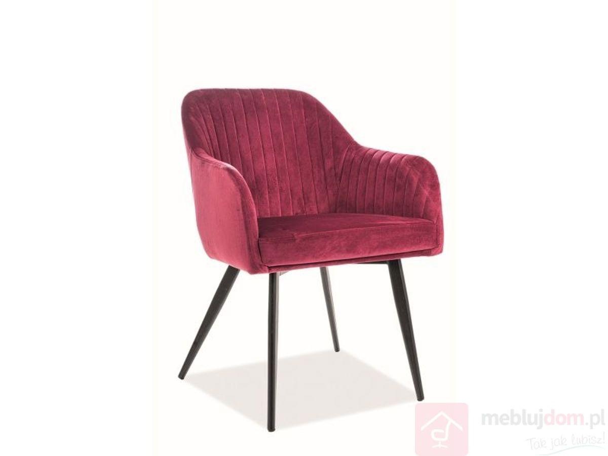 Krzesło ELINA VELVET Signal bordowy