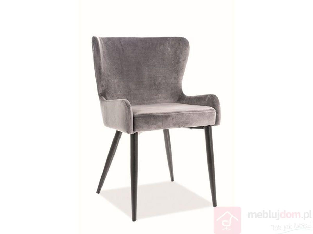 Krzesło PASSO II VELVET Signal szary velvet