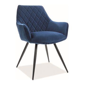 Krzesło LINEA VELVET SIgnal granatowy bluvel 86