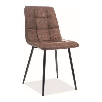 Krzesło LOOK Signal ekoskóra brąz