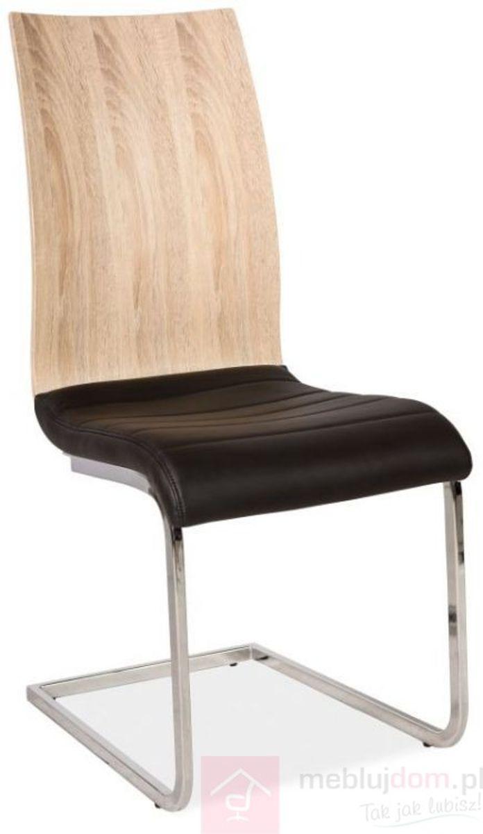 Krzesło H-791 Signal Dąb sonoma + czarny