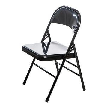 Krzesło metalowe COTIS czarne przodem