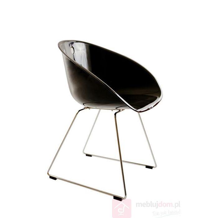 Krzesło CUBE czarne bok