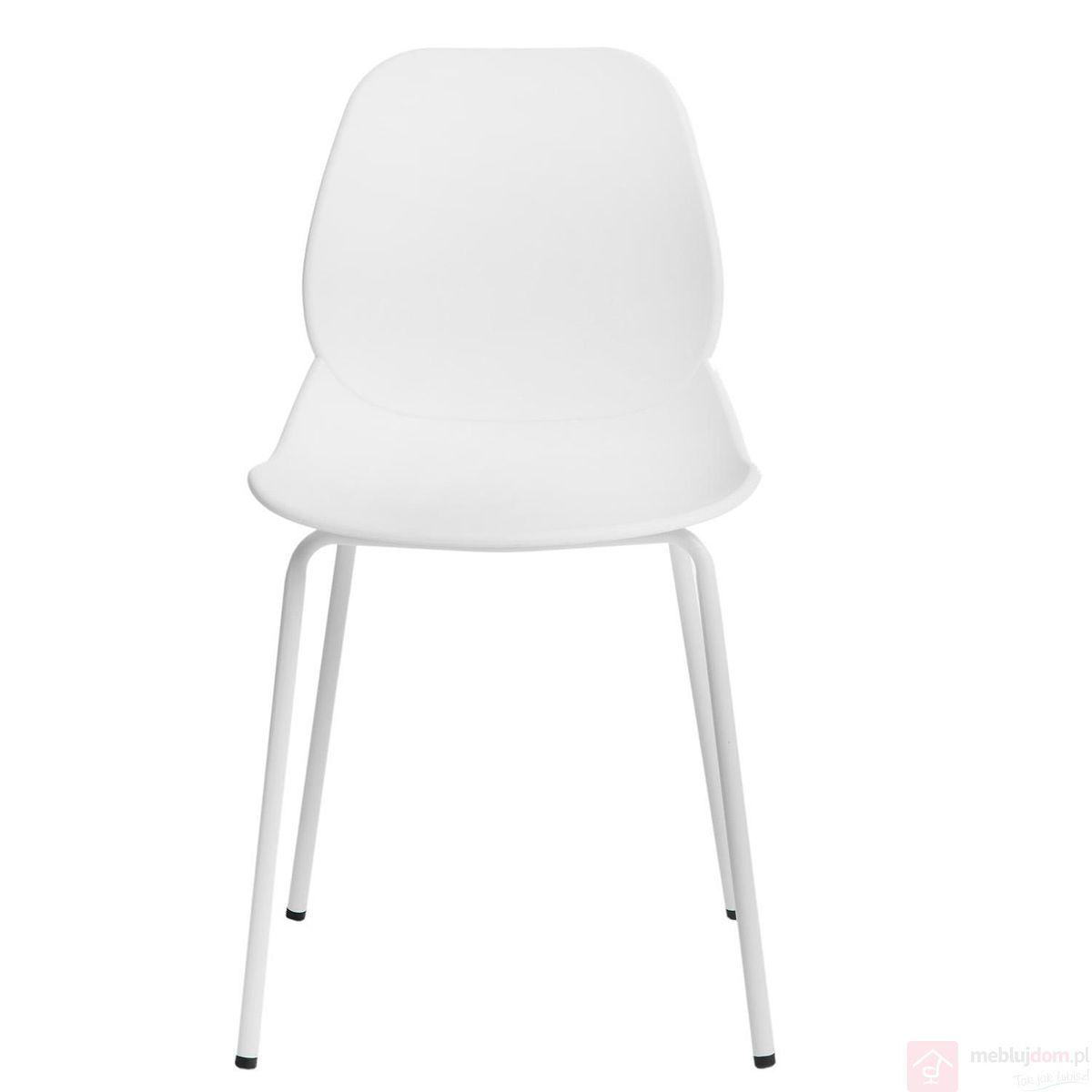 Krzesło LAYER 4 białe przód