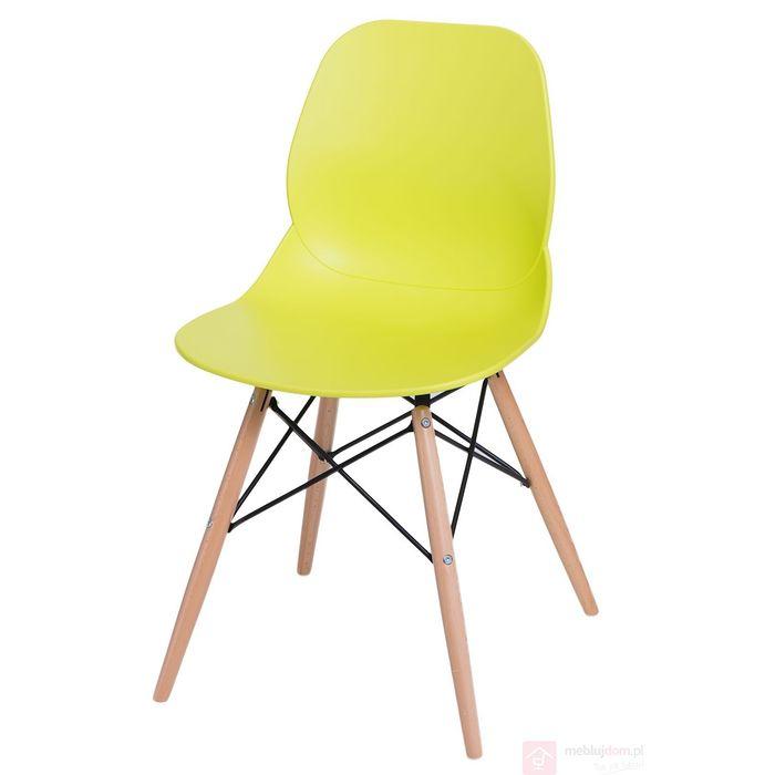 Krzesło LAYER DSW limonkowe przodem