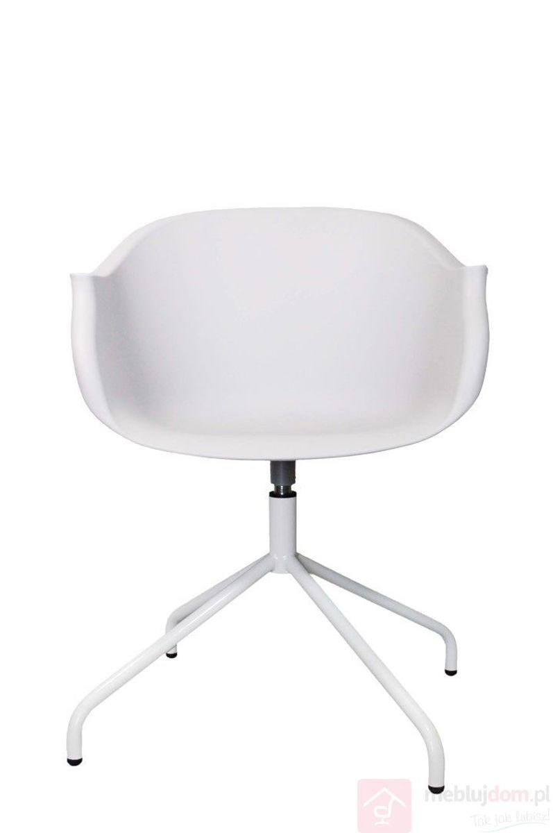 Krzesło ROUNDY białe tworzywo sztuczne przód